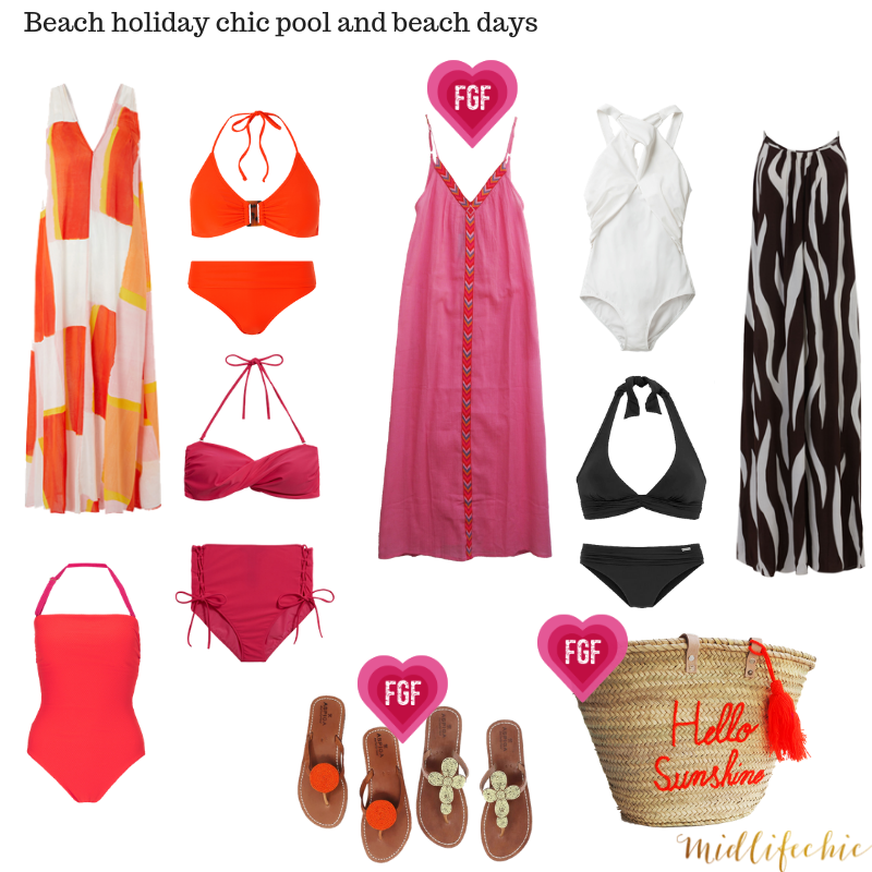 Packing for a hot beach holiday - women over 40