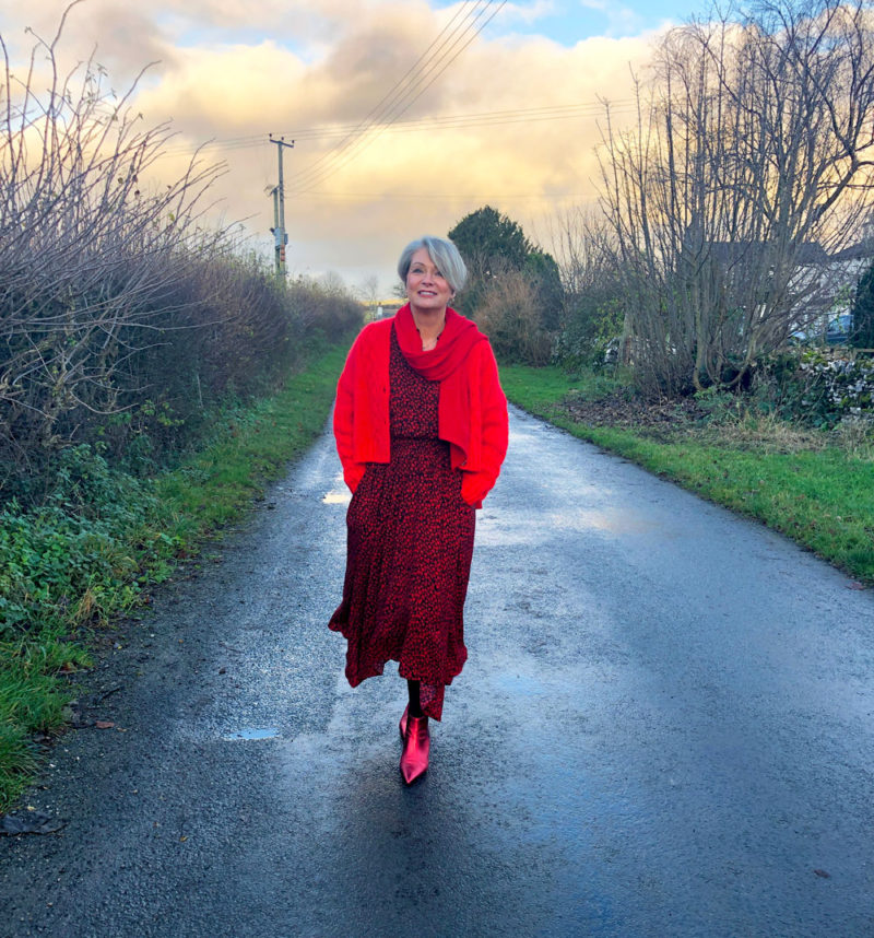 Midlifechic red outfit Christmas
