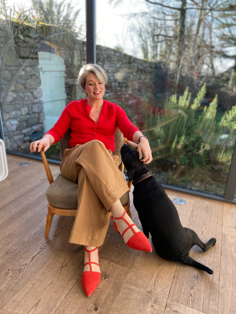 Midlifechic and Teddy the dog